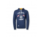 Pepe Mens Sweatshirt with Hood HUGH SOFT Navy