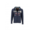 Pepe Mens Sweatshirt with Hood IAN SOFT SWEAT Navy